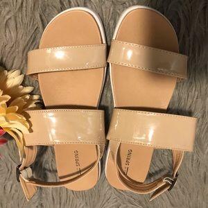 Call it spring beige sandals.